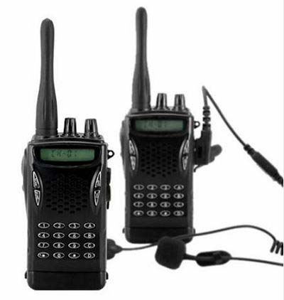 Security walkie-talkies for guards